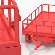 Airport Luggage Trolley Baggage Trailer with Container. Preview 25