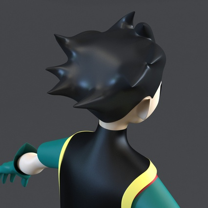 Robin Cartoon Character Rigged for Maya. Render 26