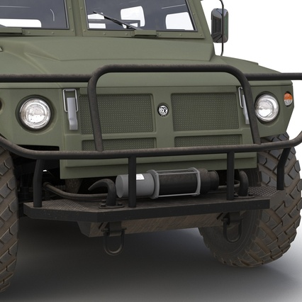 Russian Mobility Vehicle GAZ Tigr M Rigged. Render 38