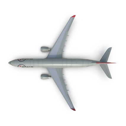 Jet Airliner Airbus A330-300 Northwest Airlines Rigged. Render 17