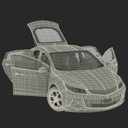 Generic Hybrid Car Rigged. Preview 76