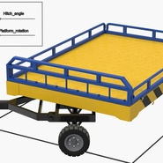 Airport Transport Trailer Low Bed Platform Rigged. Preview 18