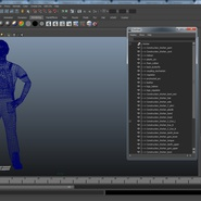Construction Worker Black Uniform with Hardhat Standing. Preview 24