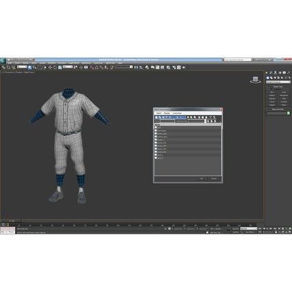 Baseball Player Outfit Generic 8. Render 34