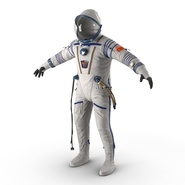 Russian Space Suit Sokol KV2 Rigged. Preview 16