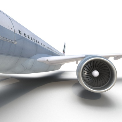 Jet Airliner Airbus A330-300 Cathay Pacific Rigged. Render 37