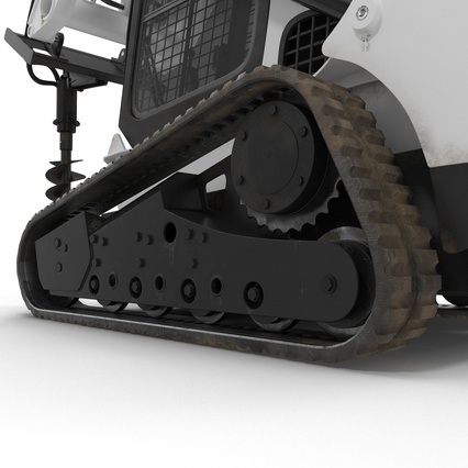 Compact Tracked Loader with Auger. Render 27