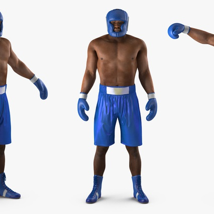 African American Boxer Rigged for Cinema 4D. Render 10