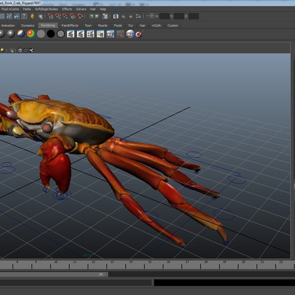 Red Rock Crab Rigged for Maya. Render 25