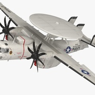 Grumman E-2 Hawkeye Tactical Early Warning Aircraft Rigged. Preview 2