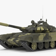 T72 Main Battle Tank Camo Rigged. Preview 6