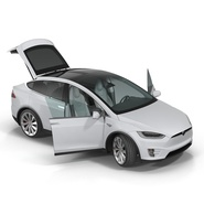 Tesla Model X Rigged. Preview 10
