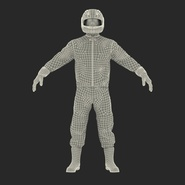 Motorcycle Rider Rigged for Maya. Preview 4