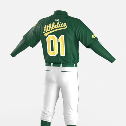 Baseball Player Outfit Athletics 3. Render 18