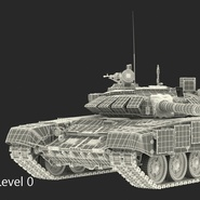 T72 Main Battle Tank Camo Rigged. Preview 17