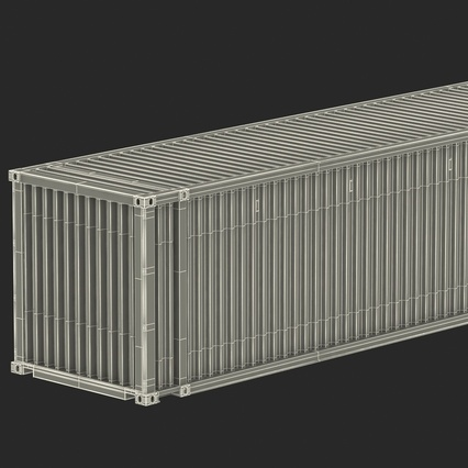 45 ft High Cube Container Blue. Render 45