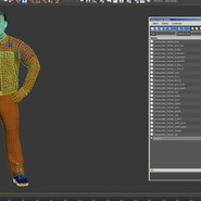 Factory Worker Orange Overalls Standing Pose. Preview 21