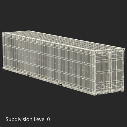 40 ft High Cube Container White. Render 31