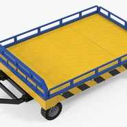 Airport Transport Trailer Low Bed Platform Rigged. Preview 2