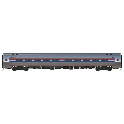 Railroad Amtrak Passenger Car 2. Render 3
