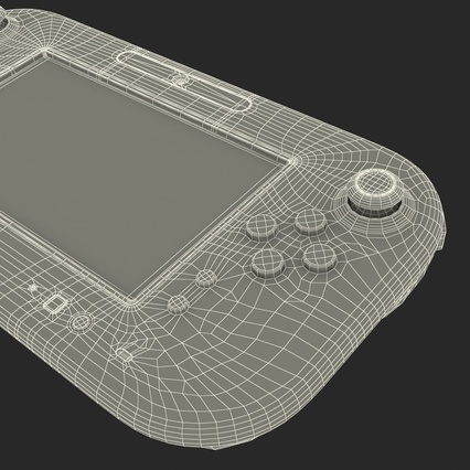 Nintendo Wii U Set White. Render 75