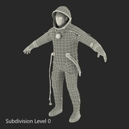 Russian Astronaut Wearing Space Suit Sokol KV2 Rigged for Maya. Preview 50