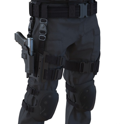 SWAT Man Mediterranean Rigged for Maya. Render 38