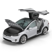 Tesla Model X Rigged. Preview 2