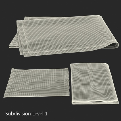 Napkins Collection. Render 28