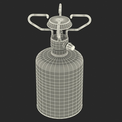 Gas Cylinder with Camping Stove. Render 4