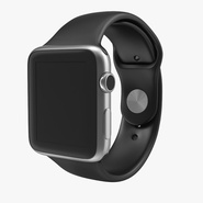 Apple Watch 42mm Sport Band Black Fluoroelastomer