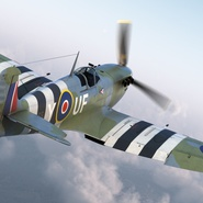Royal Air Force Fighter Supermarine Spitfire LF Mk IX Rigged. Preview 8