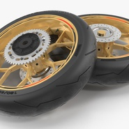 Sport Motorcycle Back Wheel. Preview 5