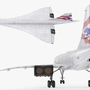 Concorde Supersonic Passenger Jet Airliner British Airways Rigged. Preview 16