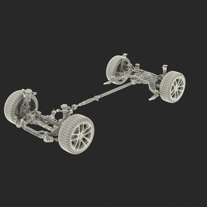Sedan Chassis. Render 5