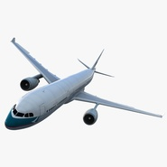 Jet Airliner Airbus A330-300 Cathay Pacific Rigged. Preview 1