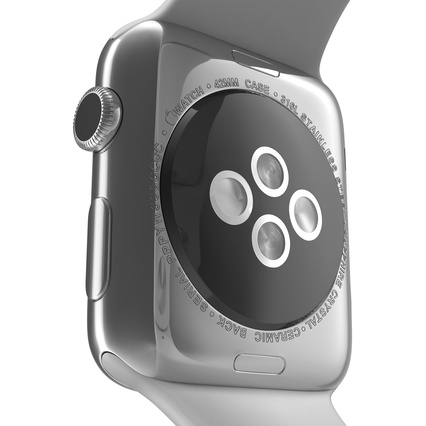 Apple Watch Sport Band White Fluoroelastomer 2. Render 27