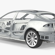 Tesla Model S Frame and Chassis. Preview 15