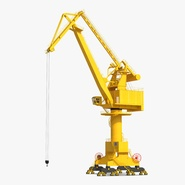 Level Luffing Port Crane Rigged Yellow