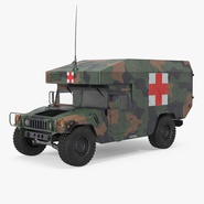Ambulance Military Car HMMWV m997 Camo