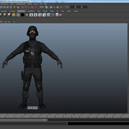 SWAT Man Mediterranean Rigged for Maya. Preview 43