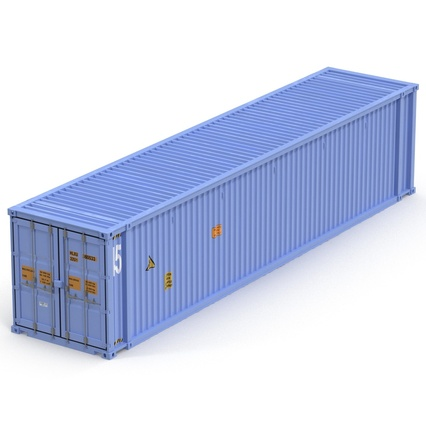 45 ft High Cube Container Blue. Render 11