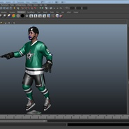 Hockey Player Stars Rigged for Maya. Preview 34