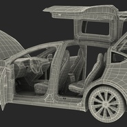 Tesla Model X Rigged. Preview 104