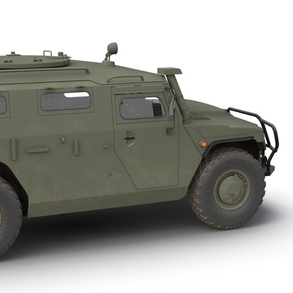 Russian Mobility Vehicle GAZ Tigr M Rigged. Render 30