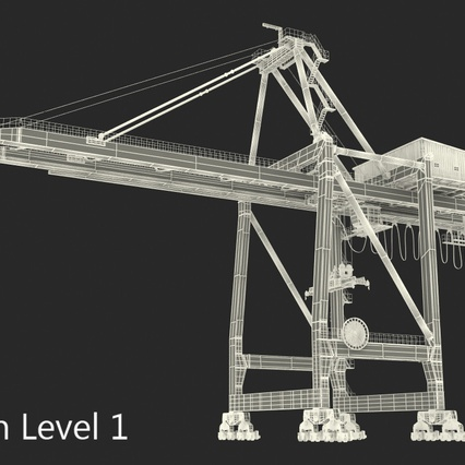 Container Crane Blue. Render 34