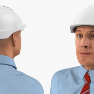 Construction Engineer in Hardhat Standing Pose. Preview 12
