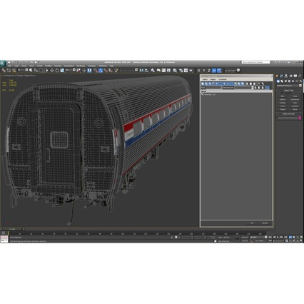 Railroad Amtrak Passenger Car 2. Render 47