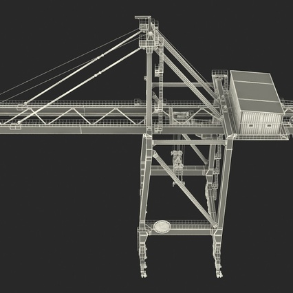 Container Crane Blue. Render 39