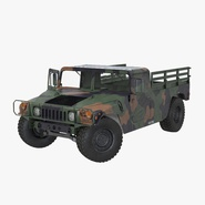 Cargo Troop Carrier Car HMMWV m1038 Rigged Camo